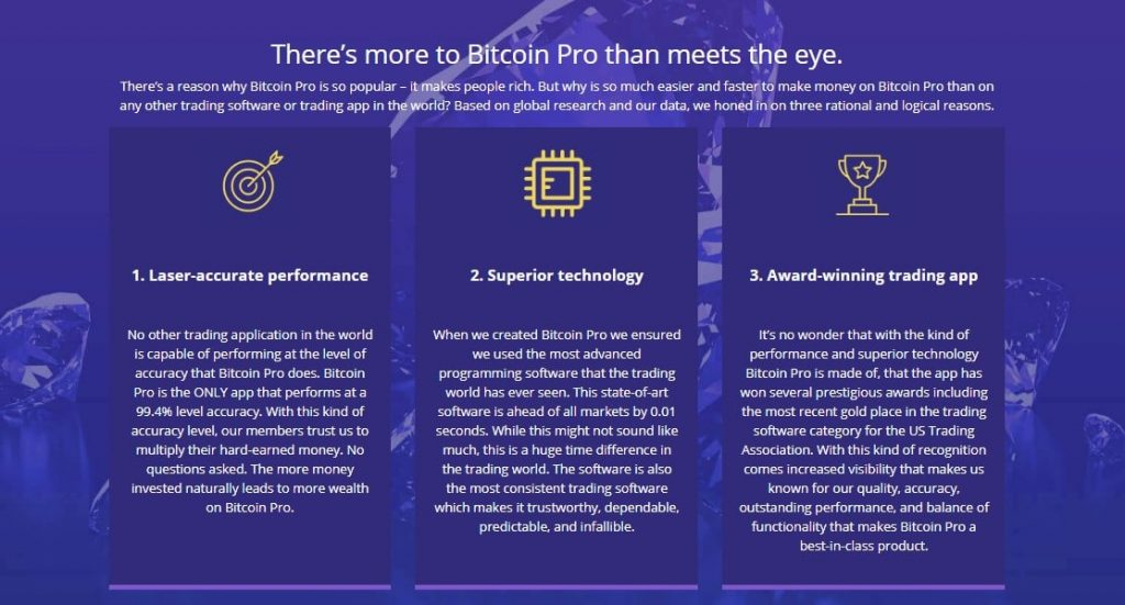 Review of Bitcoin Pro – Features